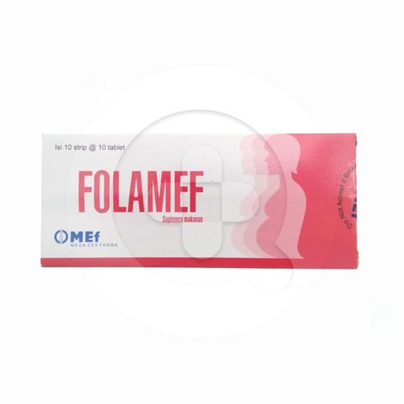 Folamef tablet adalah suplemen untuk memenuhi kebutuhan asam folat pada ibu hamil dan menyusui.