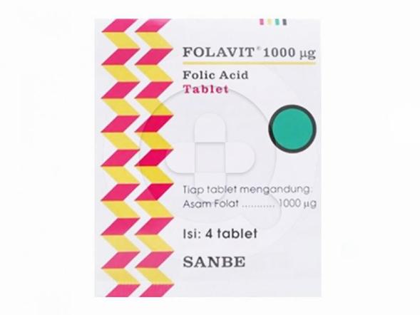 Folavit tablet digunakan untuk memenuhi kebutuhan asam folat.