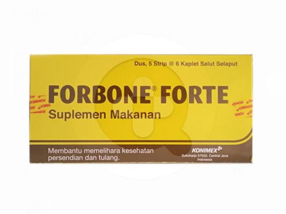 Forbone Forte kaplet merupakan suplemen untuk memelihara kesehatan sendi dan tulang.