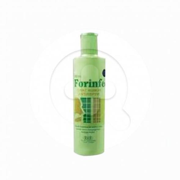 Forinfec obat kumur digunakan sebagai antiseptik lokal untuk mengatasi infeksi serta peradangan pada rongga mulut dan saluran pernapasan bagian atas.