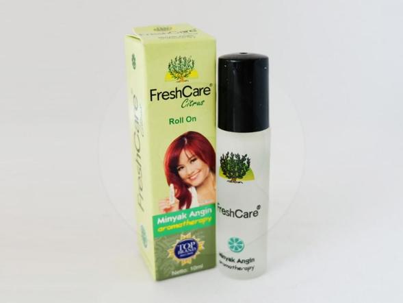 Fresh care citrul roll on 10 ml merupakan minyak angin aromatherapy yang membantu meredakan perut kembung, pusing, masuk angin, dan mabuk perjalanan.