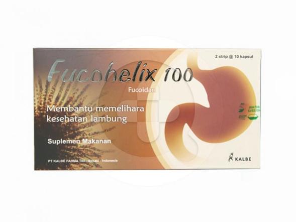 Fucohelix kapsul digunakan untuk membantu memelihara kesehatan lambung.