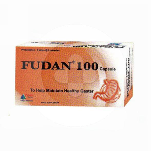 Fudan 100 kapsul adalah suplemen untuk memelihara kesehatan saluran pencernaan.
