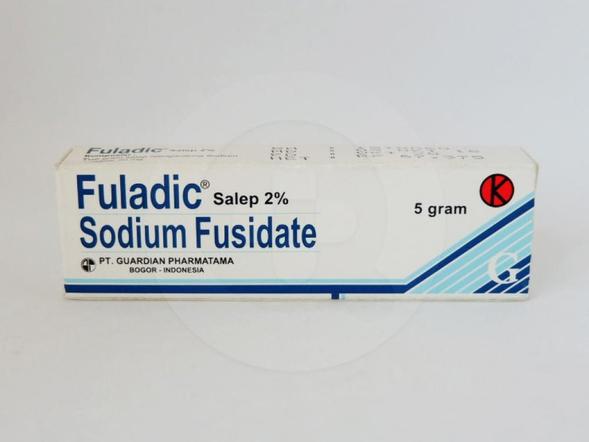 Fuladic 2 % salep 5 g untuk pengobatan infeksi kulit yang disebabkan oleh Staphylococcus.