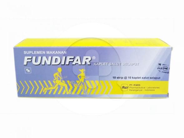 Fundifar kaplet digunakan untuk pengobatan saat tubuh kekurangan vitamin.