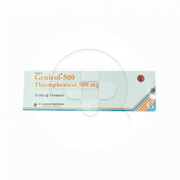Genicol kapsul adalah obat untuk mengatasi infeksi seperti pengobatan tifus dan paratifus.