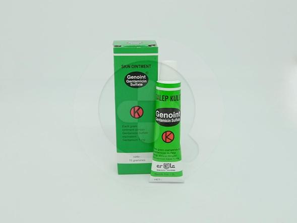 Genoint Salep Kulit 15 g digunakan untuk pengobatan infeksi kulit akibat bakteri.