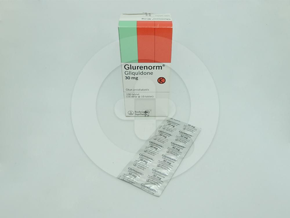 Glurenorm tablet 30 mg untuk perawatan pasien diabetes mellitus tipe 2 yang tidak merespon secara memadai terhadap olahraga dan kontrol diet.