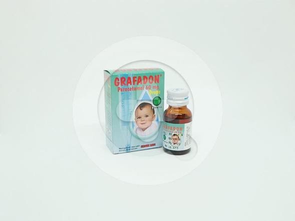Grafadon tetes 15 ml untuk meringankan rasa sakit dan menurunkan demam.