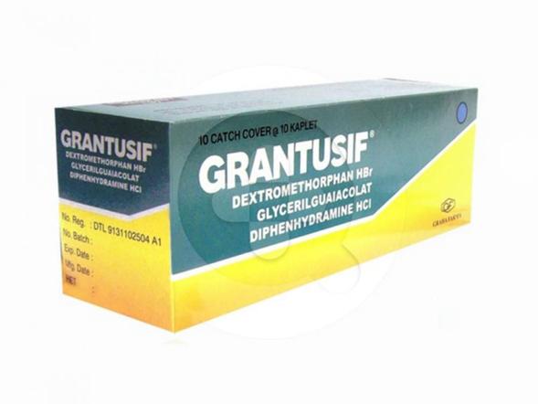 Grantusif kaplet adalah obat untuk mengobati batuk, pilek, dan bersin