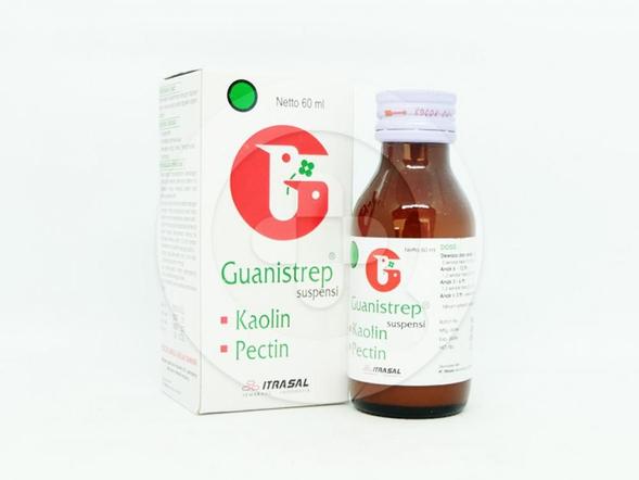 Guanistrep suspensi 60 ml adalah obat yang berguna untuk pengobatan diare dimana tidak diketahui penyebabnya dengan jelas.