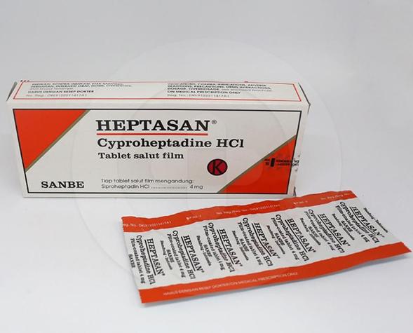 Heptasan dapat digunakan untuk mengatasi alergi kulit, biduran, alergi dingin, dan rhinitis alergi