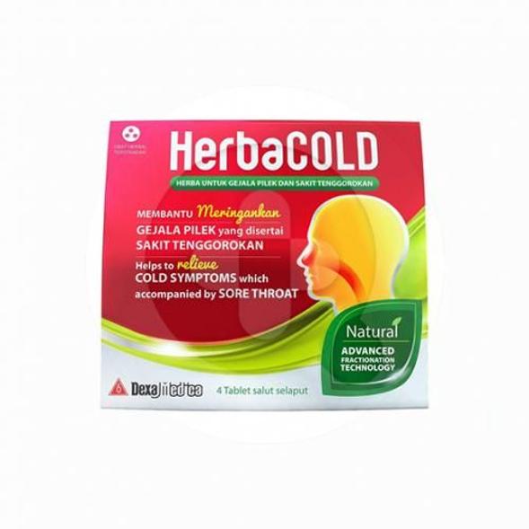 HerbaCOLD tablet adalah obat untuk meredakan gejala pilek yang disertai sakit tenggorokan.
