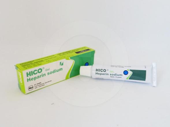 Hico gel 15 g untuk pengobatan penggumpalan darah.