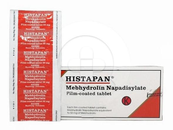 Histapan tablet digunakan untuk mengatasi reaksi alergi.