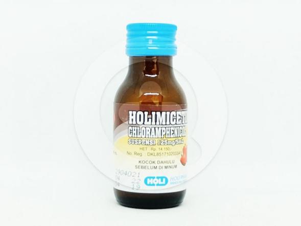 Holimicetine suspensi 60 ml adalah obat yang berguna untuk pengobatan tifoid, paratifoid dan infeksi berat yang disebabkan oleh bakteri.