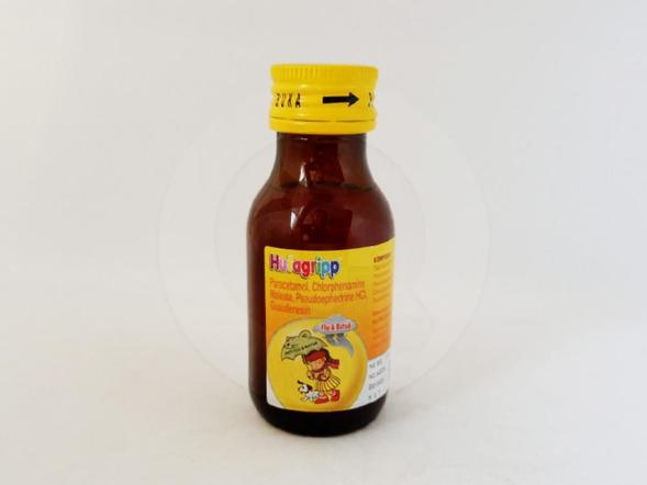 Hufagripp flu & batuk suspensi 60 ml untuk meringankan gejala-gejala flu.