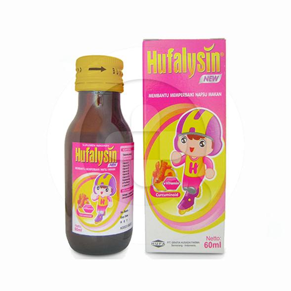 Hufalysin new sirup adalah suplemen untuk memperbaiki nafsu makan anak.