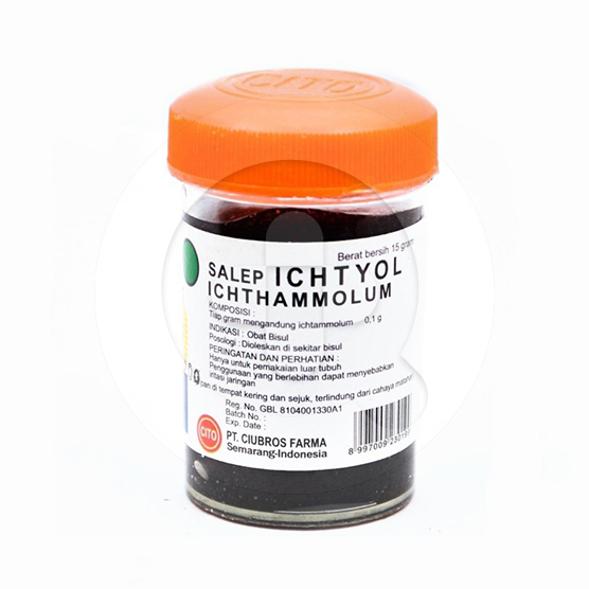 Ichtyol salep adalah obat untuk mengatasi jerawat, bisul, eksim, dan peradangan kulit (psoriasis).