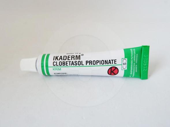 Ikaderm krim 10 g untuk pengobatan jangka pendek terhadap dermatosis.