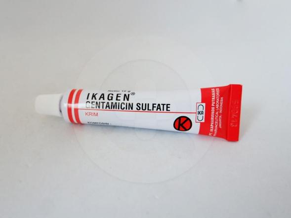 Ikagen krim 10 g obat untuk mengatasi infeksi kulit primer dan sekunder.