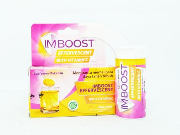 Imboost effervescent with vitamin C tablet adalah obat untuk membantu memelihara daya tahan tubuh.