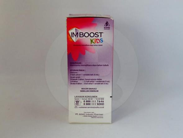Imboost kids sirup 60 ml obat untuk membantu memelihara daya tahan tubuh.