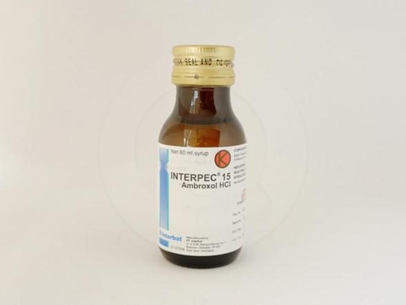 Interpect 15 mg/5 ml sirup 60 ml sebagai sekretolitik pada gangguan saluran nafas akut dan kronis khususnya: memburuknya peradangan pada saluran bronkial (eksaserbasi bronkitis kronis), peradangan di saluran napas bagian bawah (bronkitis asmatik), jalan napas paru-paru membengkak dan menyempit (asma bronkial).