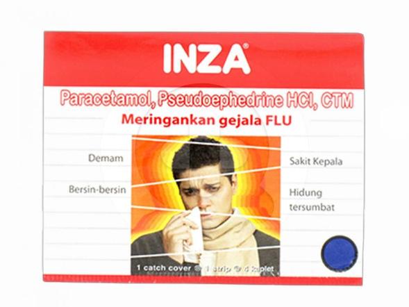 Inza kaplet digunakan untuk meredakan gejala flu.