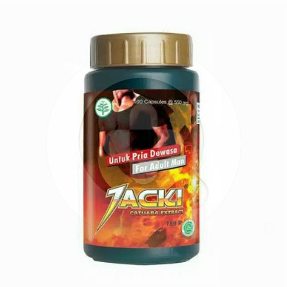 Jacki kapsul adalah obat untuk membantu memelihara stamina pada pria dewasa.