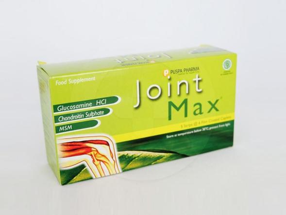 Joint max kaplet adalah suplemen untuk membantu memelihara kesehatan persendian.