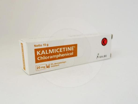 Kalmicetine salep 15 g obat untuk mengobati Infeksi kulit yang disebabkan oleh bakteri dan kuman.