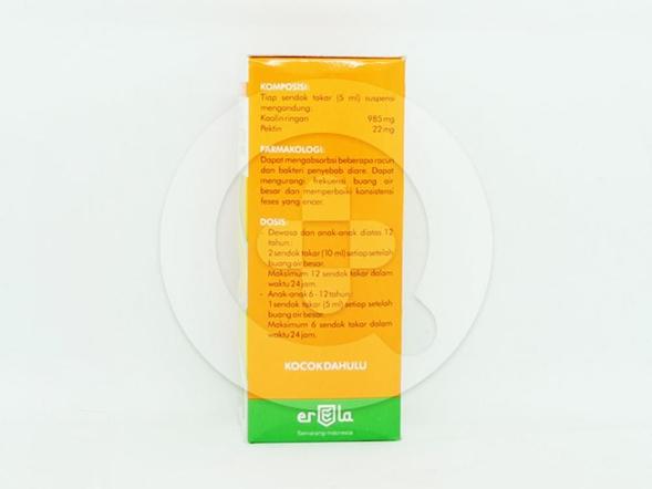 Kaotin suspensi 60 ml untuk pengobatan diare nonspesifik.