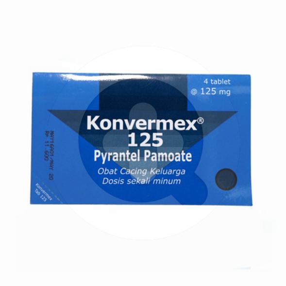 Konvermex tablet adalah obat untuk mengobati cacingan yang disebabkan parasit saluran pencernaan.