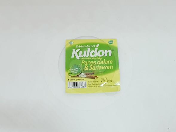 Kuldon Tablet 650 mg digunakan untuk mengobati panas dalam dan sariawan.