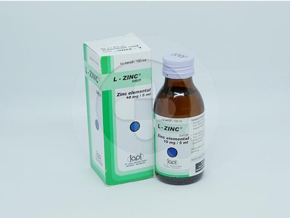 L-Zinc sirup 100 ml adalah obat terapi pelengkap diare pada anak-anak.