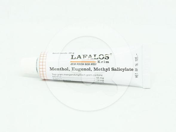 Lafalos krim adalah krim untuk meredakan rasa nyeri.