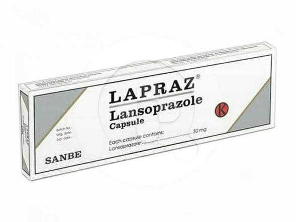 Lapraz kapsul digunakan untuk mengatasi luka pada dinding lambung dan usus 12 jari.