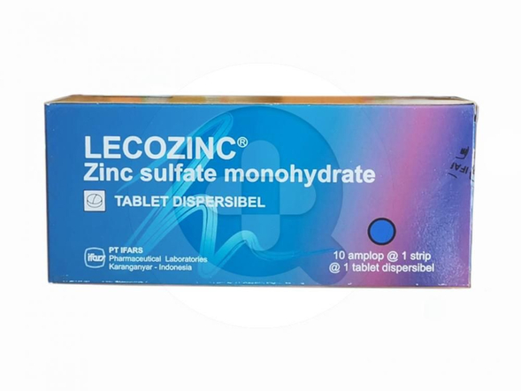 Lecozinc tablet adalah obat untuk terapi penunjang diare.