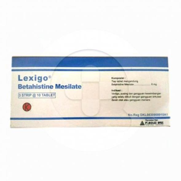 Lexigo tablet adalah obat untuk mengobati vertigo dan penyakit meniere seperti telinga berdering.