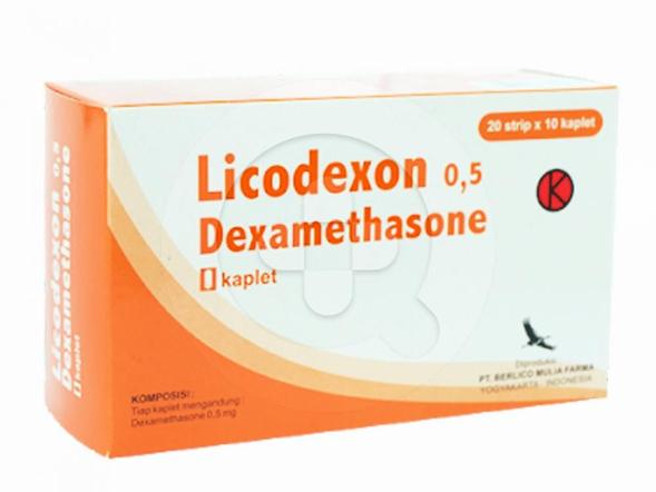 Licodexon kaplet digunakan untuk mengobati peradangan.