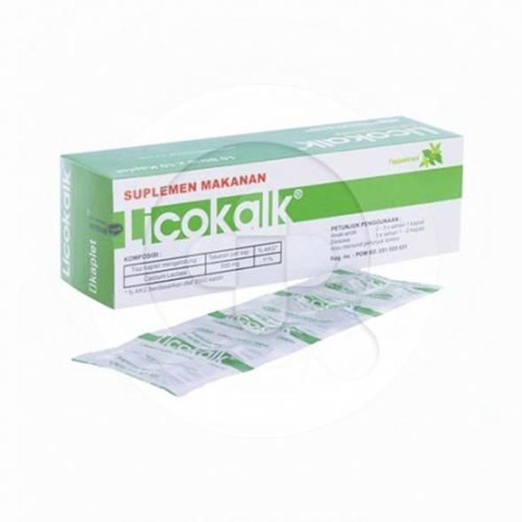 Licokalk kaplet adalah suplemen untuk memenuhi kebutuhan kalsium