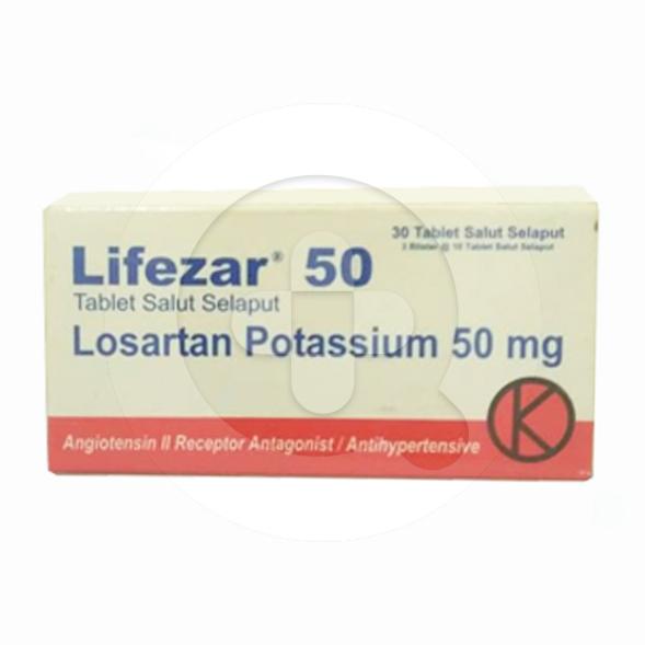 Lifezar tablet adalah obat untuk mengatasi tekanan darah tinggi (hipertensi).