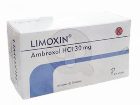 Limoxin tablet digunakan untuk mengencerkan dahak atau lendir (sekretolitik) pada gangguan saluran pernapasan akut dan kronik.