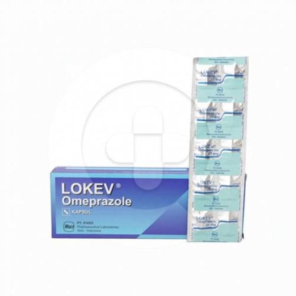 Lokev kapsul digunakan untuk terapi jangka pendek pada tukak saluran pencernaan.