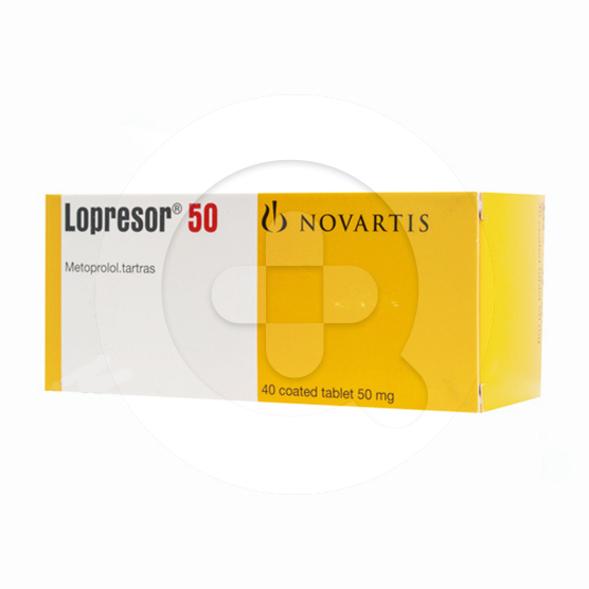 Lopresor tablet adalah obat untuk mengatasi tekanan darah tinggi (hipertensi).