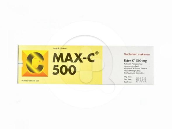 Max-C 500 tablet merupakan suplemen untuk memelihara kesehatan tubuh.