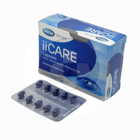 Mega we care iiCare kapsul adalah suplemen untuk memelihara kesehatan mata.