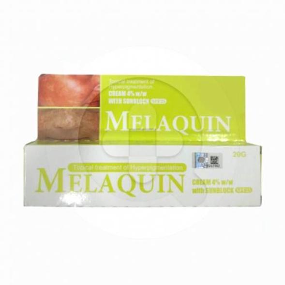 Melaquin krim adalah obat untuk mengatasi masalah hiperpigmentasi pada kulit.