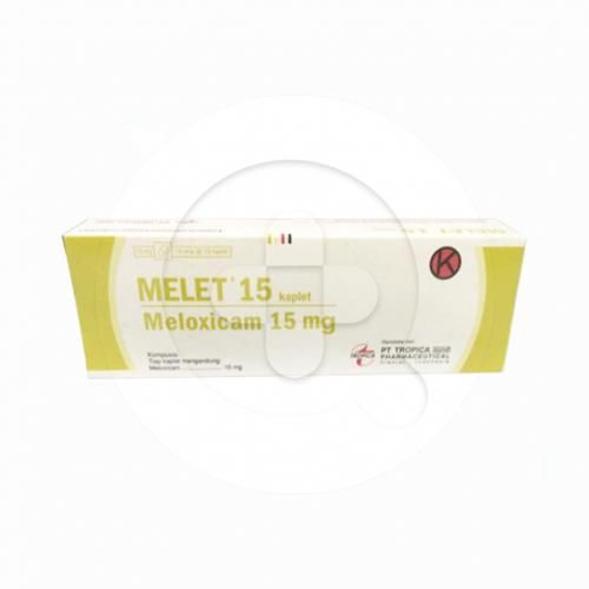 Melet kaplet digunakan untuk meredakan nyeri akibat peradangan sendi.
